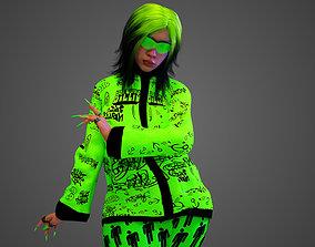 3D model rigged Billie Eilish