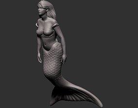 3D printable model Mermaid Sculpture