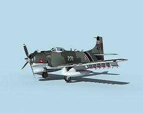 3D model Douglas A-1H Skyraider Thai AF