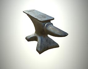 Low-Poly Blacksmith Anvil Editorial License 3D asset