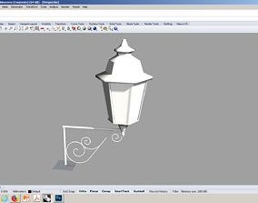 3D model VINTAGE STREET LAMP WITH WROUGHT IRON DETAILS