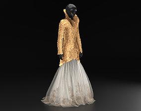 Alexander McQueen dress 3D print model