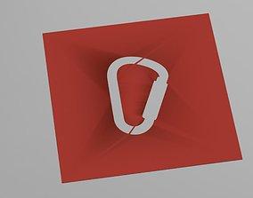 Carabiner stancil 3D print model