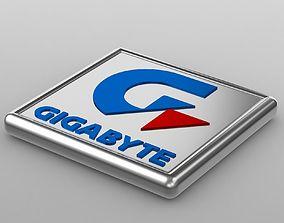 3D model gigabyte logo