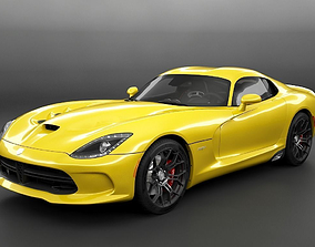 Dodge Viper SRT HQ Interior 3D model