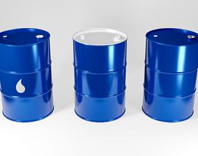 asset 3D asset Metal Barrel