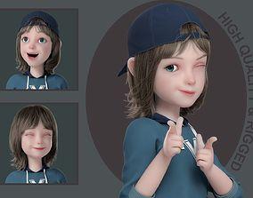 3D model Cartoon Boy Rigged kid