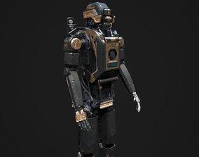 Elysium Droid gold skin 3D asset