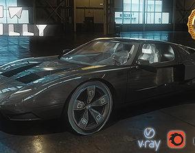 Generic Sport Car Low Poly 3D model