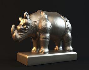 Rhinoceros statue 3D printable model