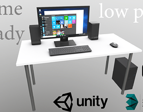 3D model Personal office computer