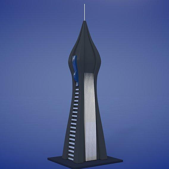 Sci-fi Futuristic Building
