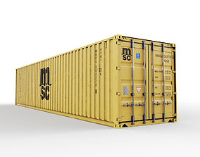40 feet MSC standard shipping container 3D