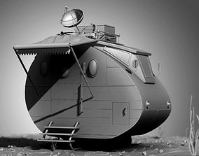 Stylized Cartoonic spaceship 3D