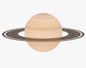 3D asset Lowpoly Saturn