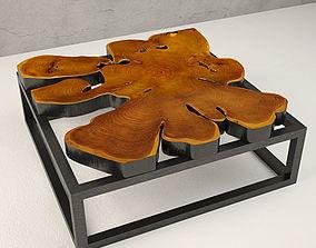 3D Teak Coffee Table chalet