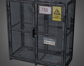 3D asset Gas Cylinder Cage - PBR Game Ready