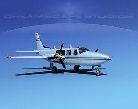 3D model Piper Aerostar 600 V08