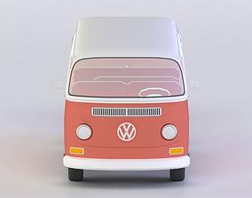 VW KOMBI 1968 3D MODEL low-poly