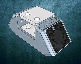 3D printable model Ultimaker 2 fan casing extruder