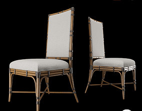 Tropical - SUMMER ISLE UPHOLSTERED SIDE CHAIR 3D