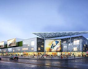 City Shopping Mall tree 3D