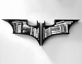 Shelf bookshelf Batman 3D print model