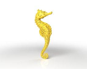 Seahorse Voronoi 3D asset