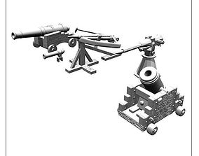 cannons harpoon and more for 3d printing -STL file-