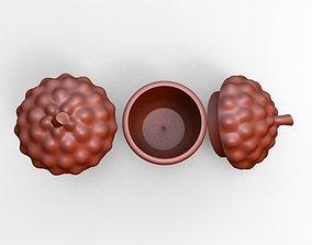 3D printable model Acorn ceramic canister kitchen decor