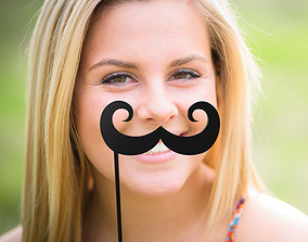 fashion-challenge Mustache Mustache Stick 3D print model