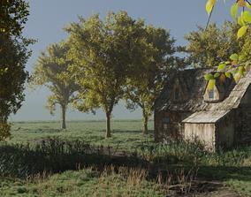 VR / AR ready A farmhouse 3d modelled