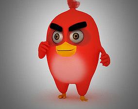 3D asset Angry Bird Red Bird Mood breaker