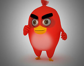3D asset Angry Bird Red Bird Mood breaker