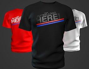 T-Shirt 3D Hi-Res Mockup realtime