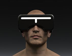 Sci Fi Virtual Reality Headset 3D