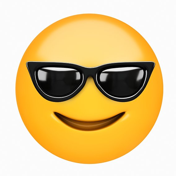 Emoji Smiling Face with Sunglasses