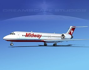 Boeing 717-200 Midway 3D