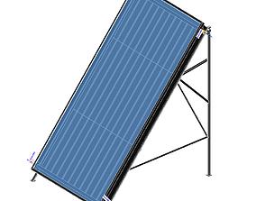 Solar Panel Flat Plate Collector 3D print model
