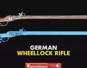 Weapon - Gun - Flintlock - German Wheellock Rifle 3D model