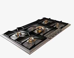 Gaggenau 200 series gas cooktop 3D model