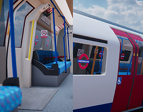 3D asset Subway Train