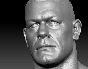 John Cena Bust and action figure head 3D print model
