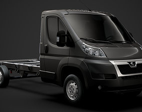 3D Peugeot Boxer Chassis Truck Single Cab 3800WB 2014