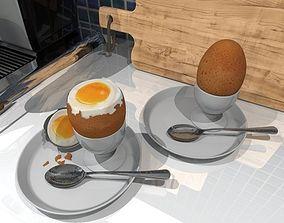 3D eggs boiled