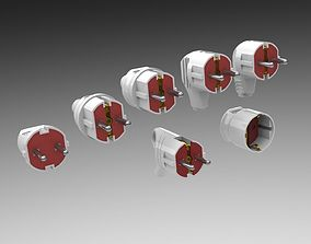Bundle Electric plugs and power socket 3D