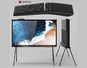 Samsung QLED The Serif TV 2019 black 3D model