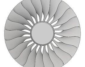 3D model GE90 Turbofan for CFD