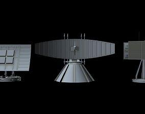 3D Sci-fi Radar collection 1