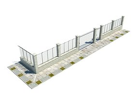 Compound Wall 3D model